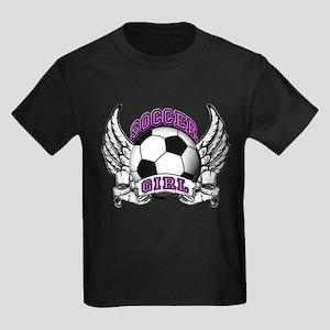Soccer Girl Kids Dark T-Shirt