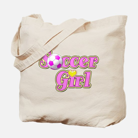 Soccer Girl Tote Bag