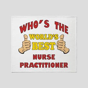World's Best Nurse Practitioner (Thumbs Up) Throw