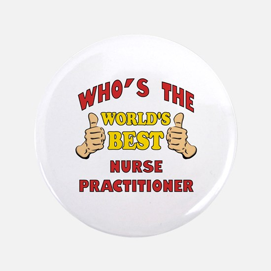 "World's Best Nurse Practitioner (Thumbs Up) 3.5"" B"