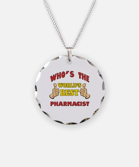 World's Best Pharmacist (Thumbs Up) Necklace