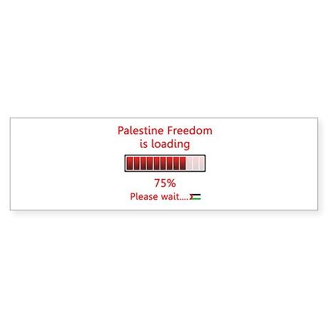 Palestine freedom is loading Bumper Sticker
