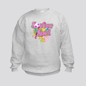 Soccer Girl Kids Sweatshirt