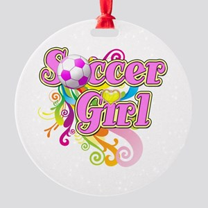 Soccer Girl Round Ornament