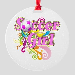 Soccer Girl Round Ornament