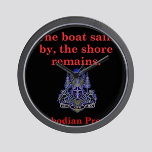 The Boat Sails By - Cambodian Proverb Wall Clock