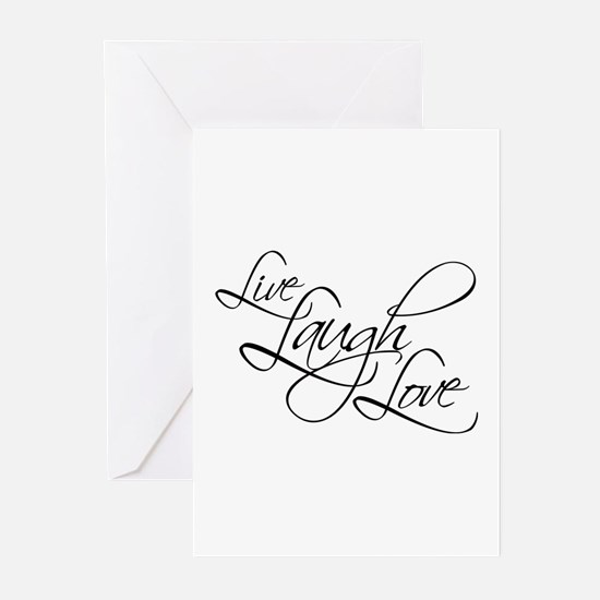 Live, Laugh, Love Greeting Cards ( Pk of 20 )