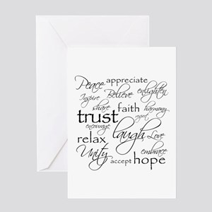 Positive Words - Greeting Cards