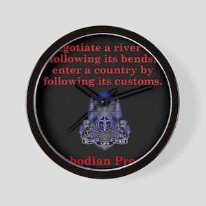 Negotiate A River - Cambodian Proverb Wall Clock