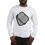 My Son is an Airman dog tag Long Sleeve T-Shirt