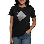 My Son is an Airman dog tag Women's Dark T-Shirt