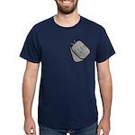 My Son is an Airman dog tag Dark T-Shirt