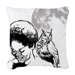 Nocturnal Woven Throw Pillow