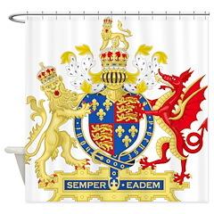 Elizabeth I Coat of Arms Shower Curtain
