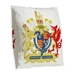 Elizabeth I Coat of Arms Burlap Throw Pillow