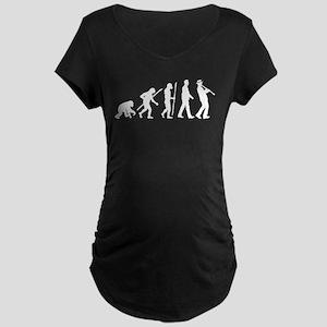 evolution of man clarinet player Maternity T-Shirt