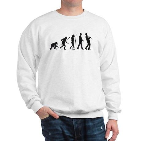 evolution of man clarinet player Sweatshirt