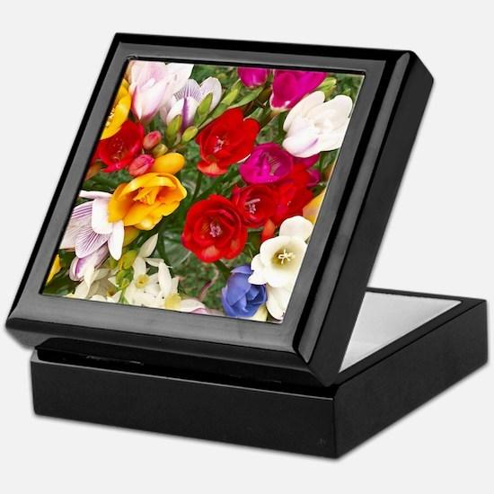 Beautiful Flowers Keepsake Box