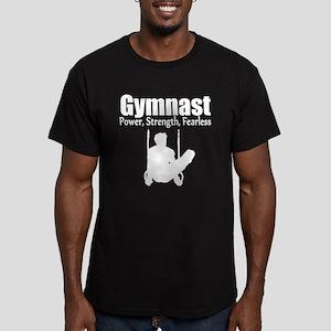 GYMNAST STRENGTH Men's Fitted T-Shirt (dark)