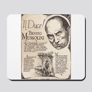 Vintage Benito Mussolini Poster Mousepad