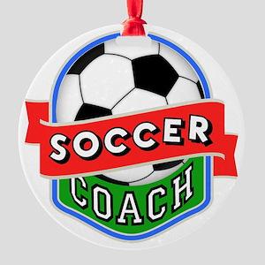Soccer Coach Round Ornament
