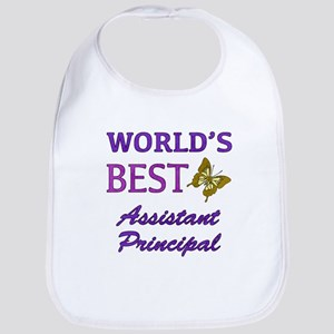 World's Best Assistant Principal (Butterfly) Bib