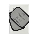 My Fiancee is an Airman dog tag Rectangle Magnet