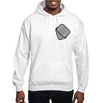 My Fiancee is an Airman dog tag Hooded Sweatshirt