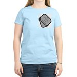 My Fiancee is an Airman dog tag Women's Pink T-Sh