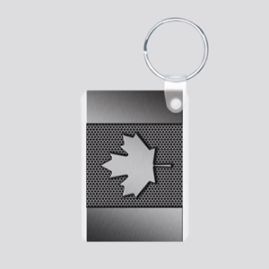 Canadian Flag Brushed Metal Canada Keychains