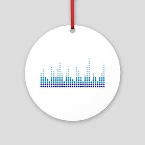 Equalizer music sound Ornament (Round)