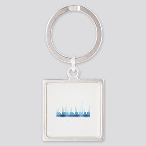 Equalizer music sound Square Keychain
