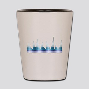 Equalizer music sound Shot Glass