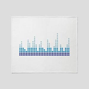Equalizer music sound Throw Blanket