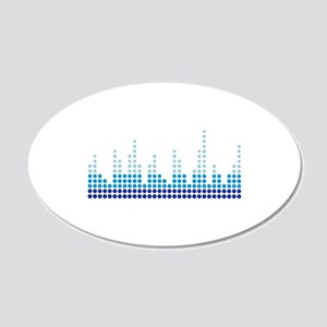 Equalizer music sound 20x12 Oval Wall Decal