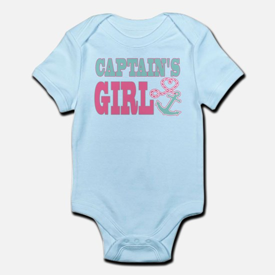 Captains Girl Boat Anchor and Heart Body Suit