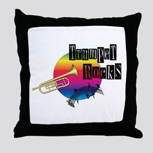 Trumpet Rocks Throw Pillow