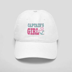 Captains Girl Boat Anchor and Heart Baseball Cap