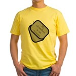My Grandson is an Airman dog tag Yellow T-Shirt