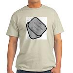 My Grandson is an Airman dog tag Ash Grey T-Shirt