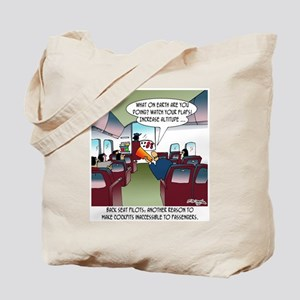 Back Seat Pilots Tote Bag