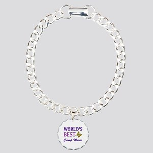 World's Best Camp Nurse (Butterfly) Charm Bracelet