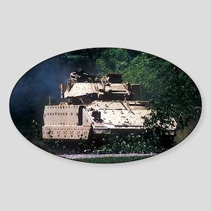 Bradley Vehicle 2 Oval Sticker