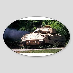 Bradley Vehicle 3 Oval Sticker