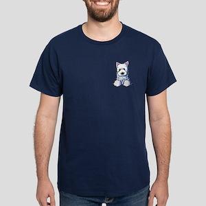 Westie Pocket PUPPY Dark T-Shirt