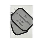 My Granddaughter is an Airman dog tag Rectangle M