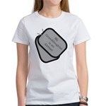 My Granddaughter is an Airman dog tag Women's T-S