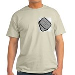 My Granddaughter is an Airman dog tag Ash Grey T-