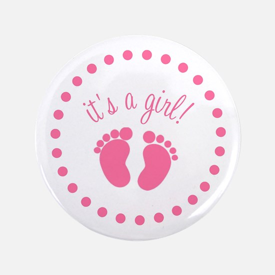 "It's A Girl 3.5"" Button (10 pack)"