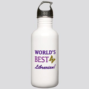 World's Best Librarian (Butterfly) Stainless Water